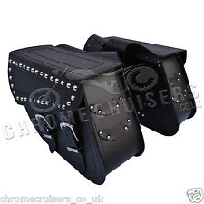 MOTORCYCLE LEATHER SADDLEBAGS PANNIERS HARLEY DAVIDSON SPORTSTER XL 883 1200 48