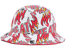 Miami Heat NBA 47 Brand White Red All over print Bucket Cap Hat $32 Size L/XL