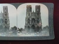 Stereoview Keystone View Co. The Cathedral Of Reims France Ruined Germans WWI O
