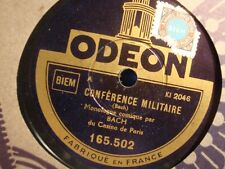 ++BACH conférence militaire/si marie voulait 78T Odeon - comique EX++