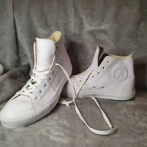 Converse All Star White Leather High Top Uk 11 Mens