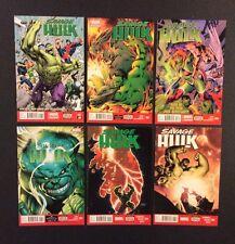 SAVAGE HULK #1 - 6 Comic Books FULL SERIES Marvel Now! 2014 VF Hulk vs X-Men