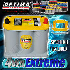 OPTIMA YELLOW TOP D35YT BATTERY 12 VOLT AGM 650CCA DEEP CYCLE HOLDEN DUAL  D35
