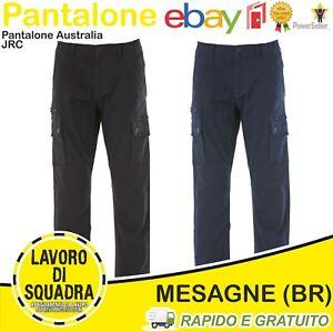 Pantalone Da Lavoro Uomo Elasticizzato Cotone Pantaloni Cargo JRC Australia Indu