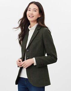 Joules Womens Westleigh Tweed Blazer - Dark Green Tweed - 16