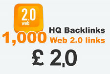 1,000 WEB 2.0 Backlinks. solo £ 2.00 offerta tempo limitato!