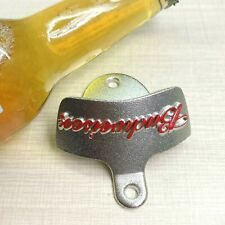 New Red BUDWEISER metal wall mount (mounted) beer bottle opener Free Shippment