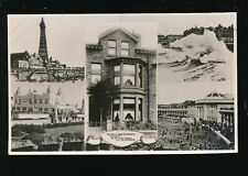 Lancashire Lancs BLACKPOOL Advert Hotel Clovelly St Chads Rd M/view1920s? RP PPC