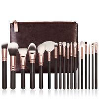 15PC/Set Eyebrow Foundation Eyeliner Oval Cream Puff Makeup Brushes Kit Case Hot