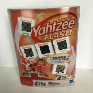 Electronic Yahtzee Flash Game Hasbro Parker Brothers Play Alone or Family Unopen