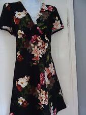 Impresionante señoras vestido de té floral Dorothy Perkins talla 14 Nuevo