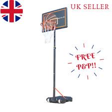 Free Standing Basketball Net Hoop Backboard Adjustable Stand Portable Wheels