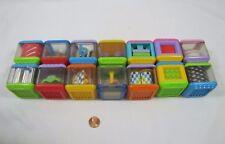 14 Fisher Price PEEK A BLOCK Blocks Audio Visual Tactile Development Toy Lot #3