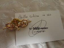 Bellissima antica spilla oro giallo oro solido oreficeria con garanzia