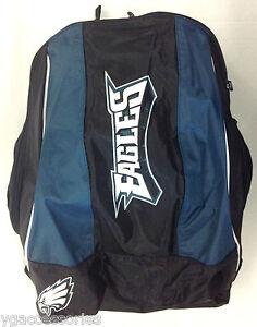 NFL Philadelphia Eagles Reebok Backpack Knapsack 2 Zippered Compartments + More