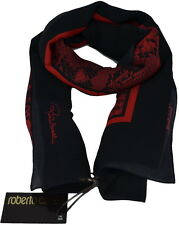 Roberto Cavalli Women Silk scarf Shawl Made Italy Sciarpa Donna Foulard C3s07d20