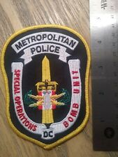 Washington DC Police Bomb Squad patch- new.