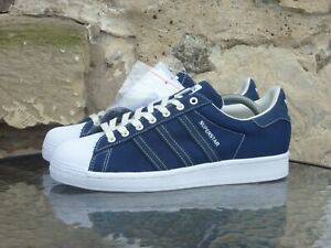 2019 Adidas Superstar Samples UK8.5 US9 Navy Blue Off White Originals Rare BNWT