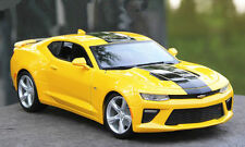 Maisto 1:18 2016 Chevrolet Camaro SS diecast metal model car bumblebee yellow