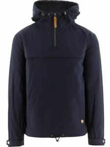 Armor Lux Mens Jacket in Navy Blue CottonWater Repellent with Pockets