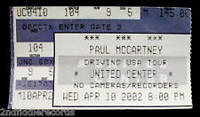 PAUL McCARTNEY-Original April 10,2002 Vintage Chicago Concert Ticket-THE BEATLES