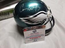 Carson Wentz signed riddell mini helmet + Coa Philadelphia Eagles
