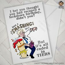 Funny BIRTHDAY CARD lockdown 2020 male female tier 2 teir 3 local Boris Johnson
