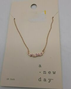 A New Day Pink Stone Necklace 18in L