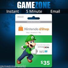 Nintendo e-Shop Gift Card Code - $35 USD USA Nintendo eShop Key 3DS/DS/Wii U