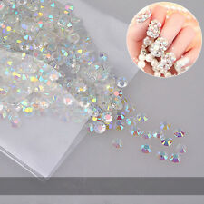 1000pcs 3D DIY Nail Art Tips Crystal Glitters AB Rhinestone Decoration
