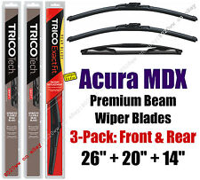 Wipers 3pk Premium Front Special Rear - fit 2014+ Acura MDX - 19260/200/14B