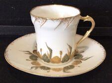 Antique LIMOGES cup & saucer France