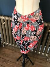 Motel Skirt. Floral Print, Tulip Cut. Small. Festival. Party. Summer