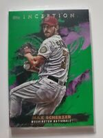 2021 Topps Inception Green Parallel #95 Max Scherzer Washington Nationals