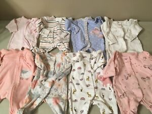 Baby Girls PREEMIE Sleepers Clothes Fit Reborn Doll Also Lot 1
