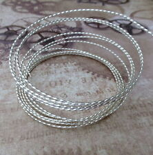 Beadsmith 21 gauge Twisted Square Wire Silver Plated