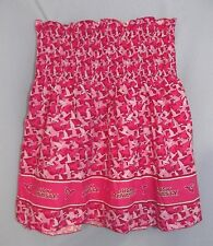 1 Yard Shades of Pink Duck Dynasty Pre Shirred Cotton Fabric Make Child's Dress
