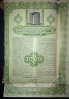 1955 HABANA HILTON HOTEL Pre Castro Confiscation ~ $1000 Share & Coupon Stock