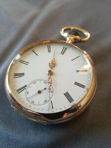 Orig. Schweizer Herren Taschenuhr 585er Gold der Firma Omega mit Box