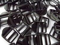 Black Plastic Ladderlock Rucksack Type Buckles for 25mm Webbing 2 - 100