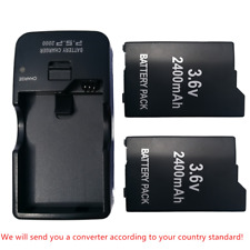 2pk  2400mAh Rechargeable Battery+charger for Sony PSP 2000/2001/2003/2004 Slim