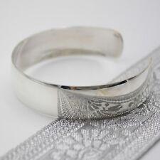 Armreif Silber 925 Reif elegant und schlicht Armspange rund glänzend massiv