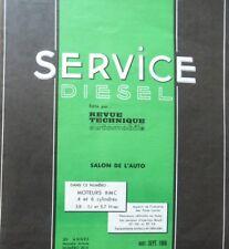 Revue technique SERVICE DIESEL moteurs BMC 4 et 6 cylindres 3.8 5.1 RTA 20D 1966