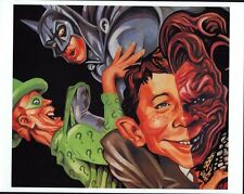 MAD BATMAN POSTER w RIDDLER & ALFRED E NEWMAN TWO-FACE