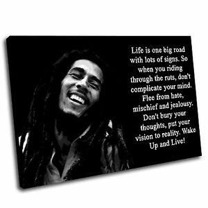 Bob Marley Canvas Wall Art Print Framed Picture PREMIUM QUALITY