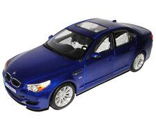 BMW 5er M5 E60 Limousine Blau 2003-2010 1/18 Maisto Modell Auto mit oder ohne in