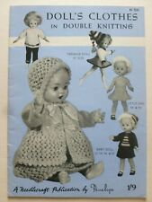 DOLL'S CLOTHES in Double Knitting by Penelope - 1960's