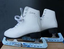 White SFR Galaxy figure skating Ice skates + Guards UK size 5, EUR size 38