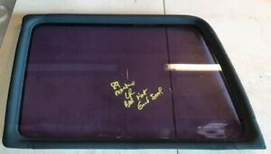 83-91 Mitsubishi Montero Driver Left Rear Quarter Glass Large Window w Seal