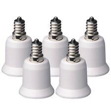 5Pcs USA E12 Candelabra To E27 Base LED Light Lamp Bulb Socket Adapter Converter